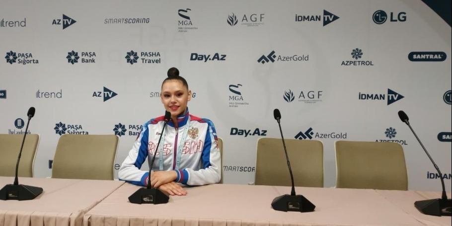 Milli Gimnastika Arenasının zalı heyrətamiz dərəcədə gözəldir - rusiyalı idmançı