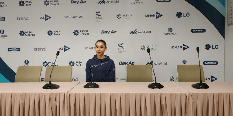 Bakıda keçirilən Dünya Kubokunda hərəkətlərim əvvəlki iki yarışdan daha çətindir - Azərbaycan gimnastı Arzu Cəlilova