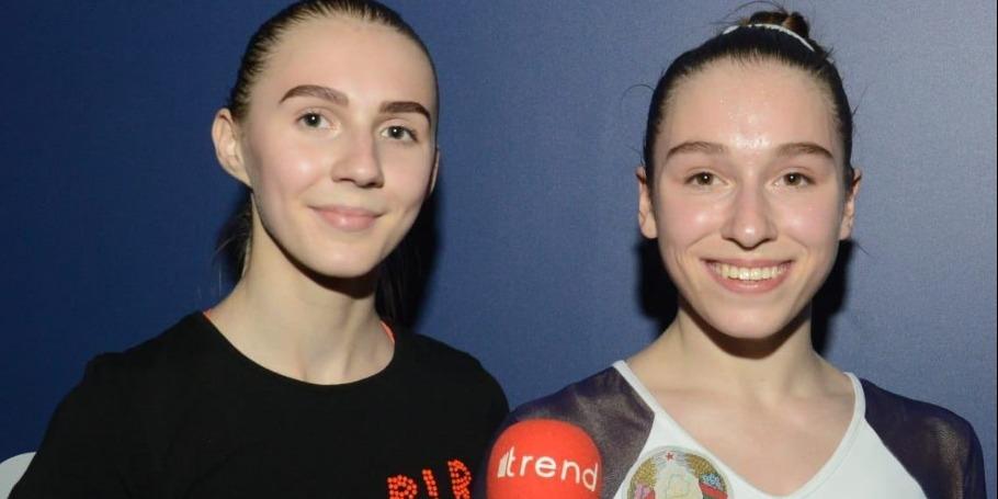 Bakıda Milli Gimnastika Arenasının zalı inanılmaz dərəcədə gözəldir - Belarus idmançıları
