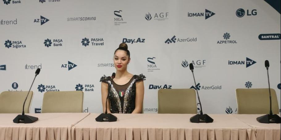 Italian gymnast talks about friendly relations with Azerbaijani gymnast