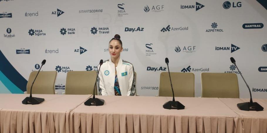 Kazakh gymnast shares impressions of Rhythmic Gymnastics World Cup taking place in Baku