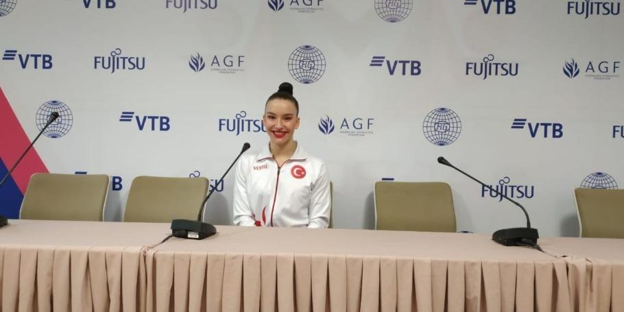 Yarışların gözəl təşkili üçün dünya çempionatının təşkilat komitəsinə təşəkkür edirəm - Türkiyəli gimnast