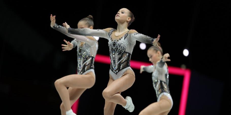 Первый день 9-х Всемирных соревнований среди возрастных групп по аэробной гимнастике (фото)
