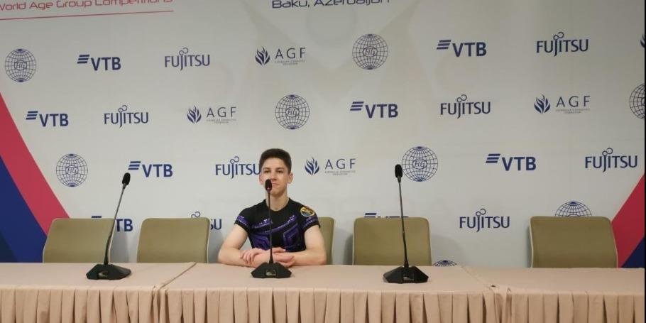 В Национальной арене гимнастики в Баку царит очень приятная атмосфера – гимнаст из Молдовы