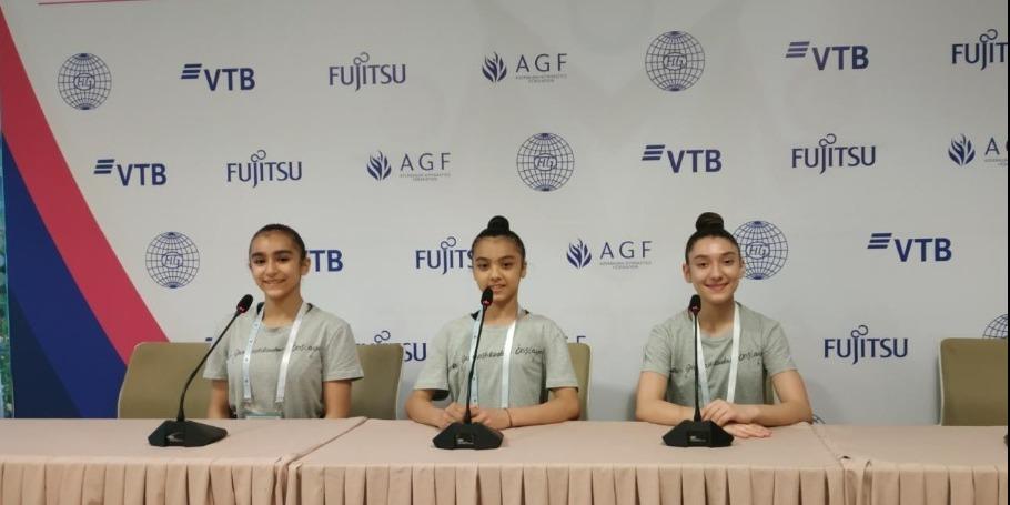 Aerobika gimnastikası üzrə Dünya Yaş Qrupları Yarışlarının finalına çıxmaqdan məmnunuq - Azərbaycanlı gimnastlar