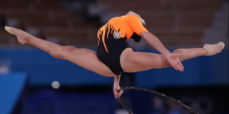 The first Azerbaijani to perform at the Rhythmic Gymnastics competitions of the Olympics