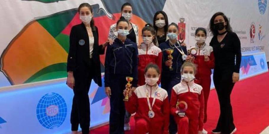 3 medal da bədii gimnastlardan
