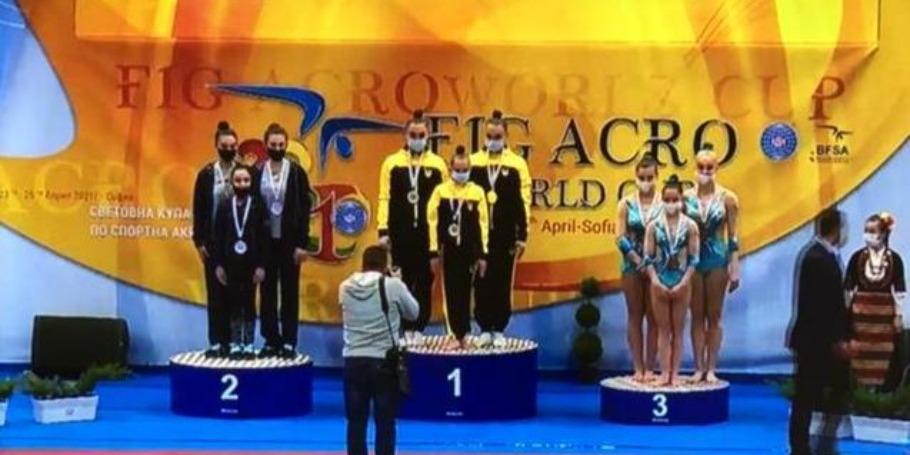 Akrobatlardan gümüş medal