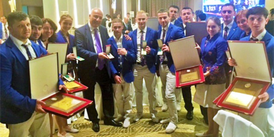 AWARDS FROM PRESIDENT OF THE COUNTRY ACCORDING TO THE RESULTS OF THE EURO-GAMES