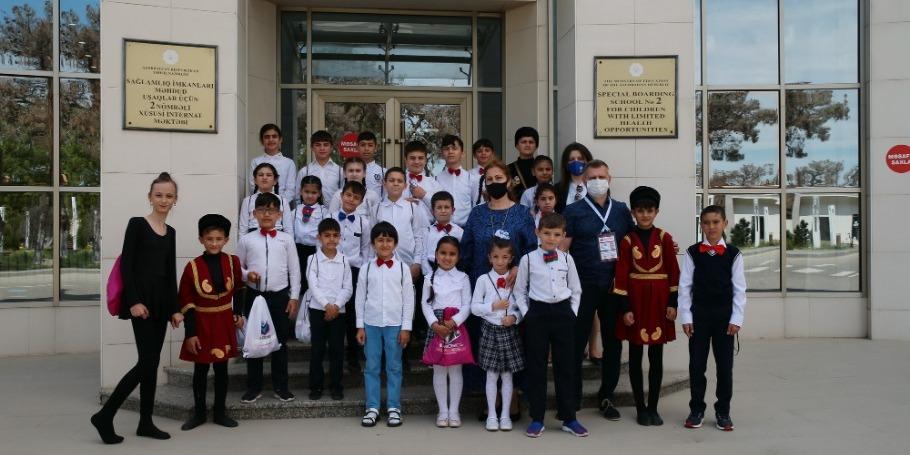 Посол Чемпионата посетил школу-интернат для детей с ограниченными возможностями