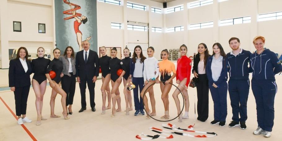 Milli Gimnastika Arenasının yeni məşq binasında yaradılan şəraitlə tanışlıq