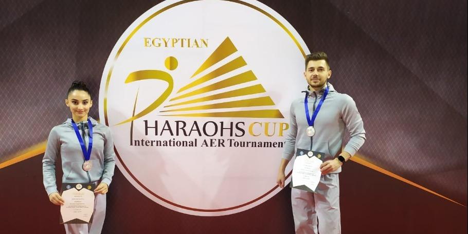 Серебряная медаль из страны пирамид