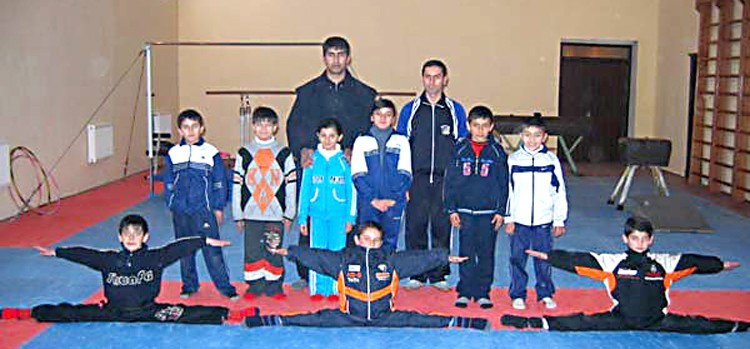 GYMNASTS FROM BALAKAN ARE ON THE FLOOR