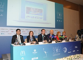 THE PRESENTATION OF THE OFFICIAL WEBSITE AND PROMO-VIDEO OF THE EUROPEAN RHYTHMIC GYMNASTICS CHAMPIONSHIP HELD IN BAKU