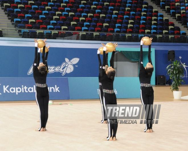 Bakıda bədii gimnastika üzrə iki günlük yarışlar sona çatdı