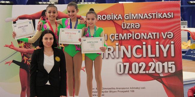 Azərbaycanda aerobika gimnastikası üzrə yarış yekunlaşıb
