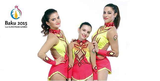 Acrobatic trio: Preparation for the European Games