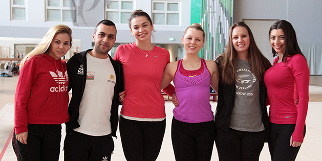 New Zealand gymnasts take part in the training camp in Baku