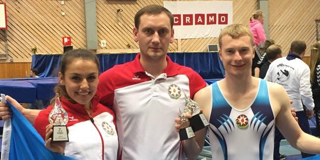 Azerbaijani trampoline gymnasts win three medals at Frivolten Cup