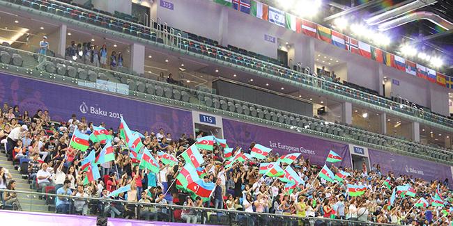 Gimnastika Avropa Oyunlarının yarış meydanında addımlayır