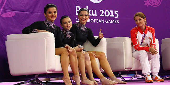 First day of rhythmic and acrobatics gymnastics competitions
