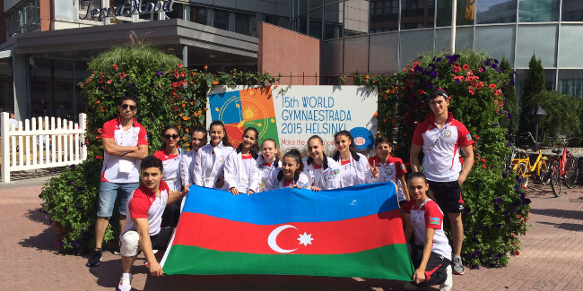 Azerbaijani gymnasts at the Gymnaestrada for the first time!