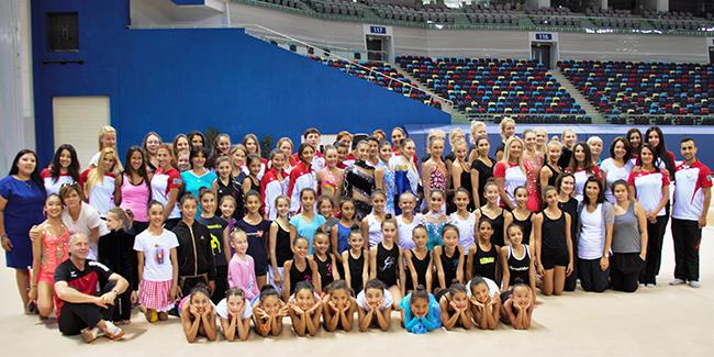 Foreign athletes join the Azerbaijani Rhythmic Gymnasts' dress rehearsal