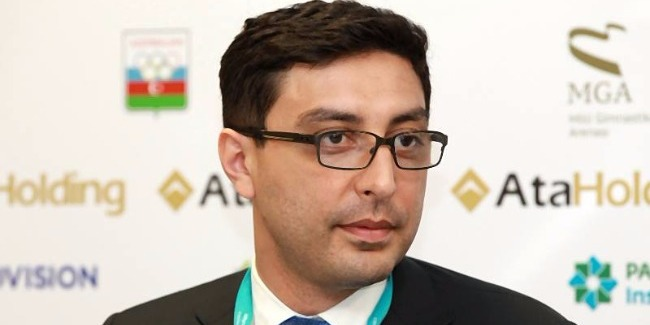 Vice-President of the European Union of Gymnastics Farid Gayibov talks about upcoming first FIG World Challenge Cup in Artistic Gymnastics to be held in Baku