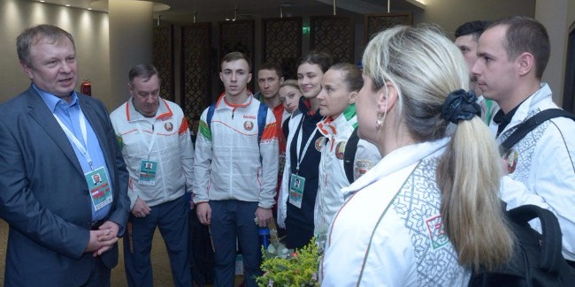 Official representatives of foreign countries in Azerbaijan are impressed with high-level organization of the FIG World Cup in Trampoline Gymnastics in Baku