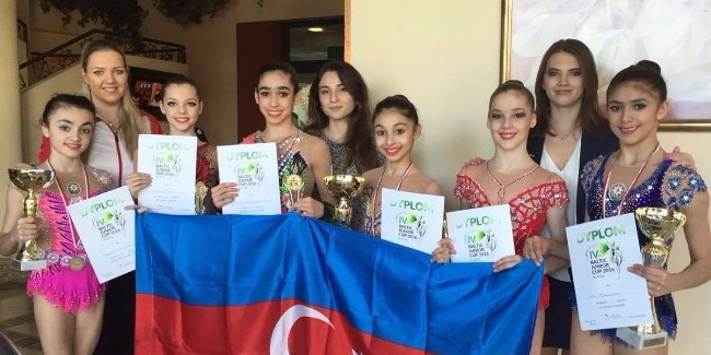 """YOUNG RHYTMIC GYMNASTS' 2 """"GOLDS"""" AND 1 """"SILVER"""""""