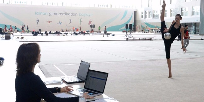 """""""Very good conditions created in Baku for preparations to the FIG World Cup Final in Rhythmic Gymnastics"""" - the Head of Estonian delegation"""
