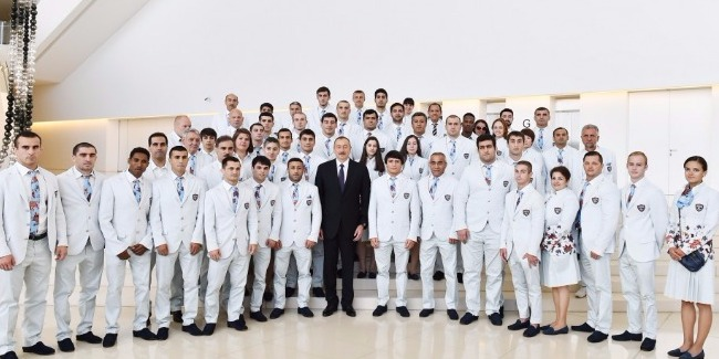 PRESIDENT ILHAM ALIYEV ATTENDED CEREMONY TO SEE OFF AZERBAIJANI ATHLETES WHO WILL COMPETE AT 31st SUMMER OLYMPIC GAMES IN RIO DE JANEIRO