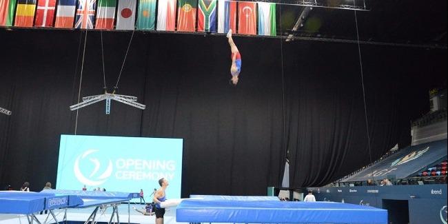 Milli Gimnastika Arenasında batut gimnastikası və tamblinq üzrə Dünya Kuboku iştirakçılarının sınaq məşqi keçirilib (fotoreportaj)