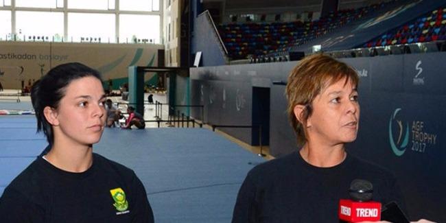 Тренер гимнастки из ЮАР: Мы счастливы, что можем тренироваться в Баку