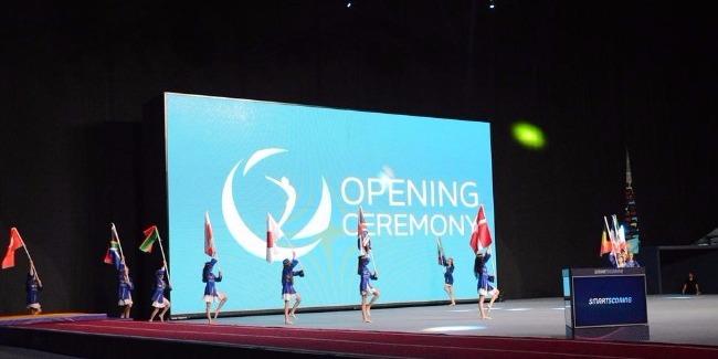 В Баку прошла генеральная репетиция церемонии открытия Кубка мира по прыжкам на батуте и тамблингу (ФОТОРЕПОРТАЖ)