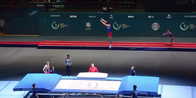 Bakıda Milli Gimnastika Arenasında batut gimnastikası və tamblinq üzrə ilk Dünya Kubokuna start verilib