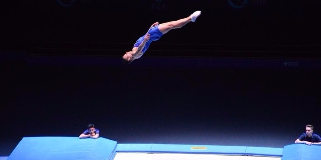 Azerbaijani trampoline gymnast advances to World Cup final