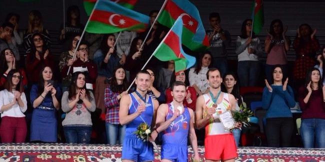 Azerbaijan's trampoline silver gymnasts