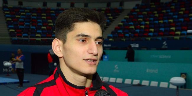 Посвящаю это выступление своей маме - азербайджанский гимнаст