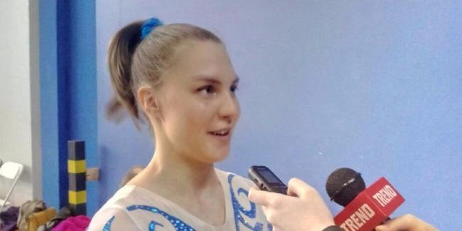 Finlandiyalı gimnast: Milli Gimnastika Arenasında çıxış etmək çox xoşdur