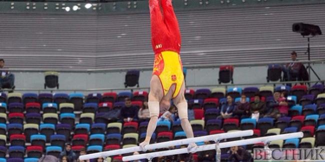 Çinli gimnast paralel qollarda qızıl medal qazanıb