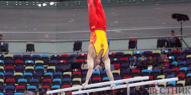 Chinese gymnast wins gold medal of FIG World Cup in Baku