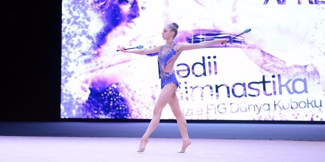Bakıda bədii gimnastika üzrə Dünya Kuboku yarışlarının ikinci gününə start verilib