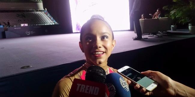В Баку великолепная гимнастическая арена - португальская гимнастка