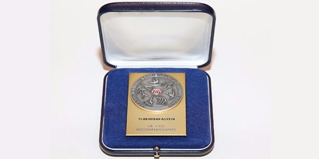 Azerbaijan's First Vice-President Mehriban Aliyeva awarded highest medal of Int'l Gymnastics Federation