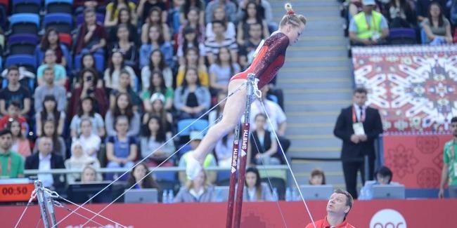 Azərbaycan gimnastları İslamiada çərçivəsində idman gimnastikası üzrə yarışların FİNALINDA