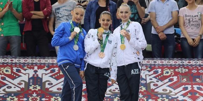 Bədii gimnastlar yarışlara 8 medalla yekun vurdu