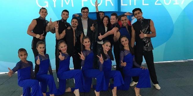 Команда Азербайджана в финальном Гала-концерте соревнований World Gym for Life Challenge