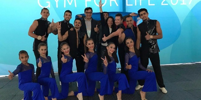 An Azerbaijan Team is in the final Gala of the World Gym for Life Challenge contest