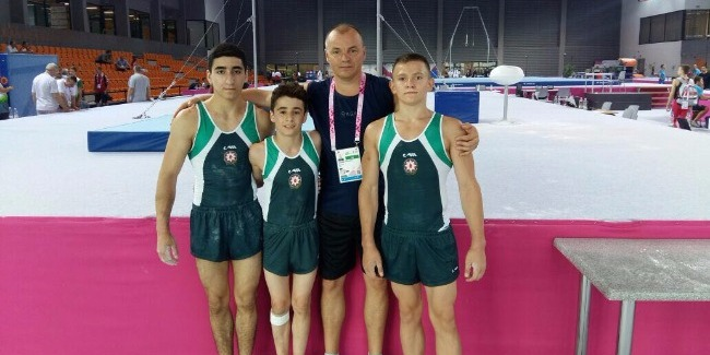 Azerbaijani gymnasts at the European Youth Olympic Festival